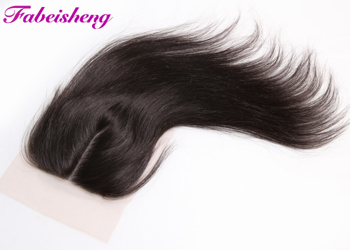 Free Part  Lace Closure 4x4 , Straight  Peruvian Hair Bundles With Closure